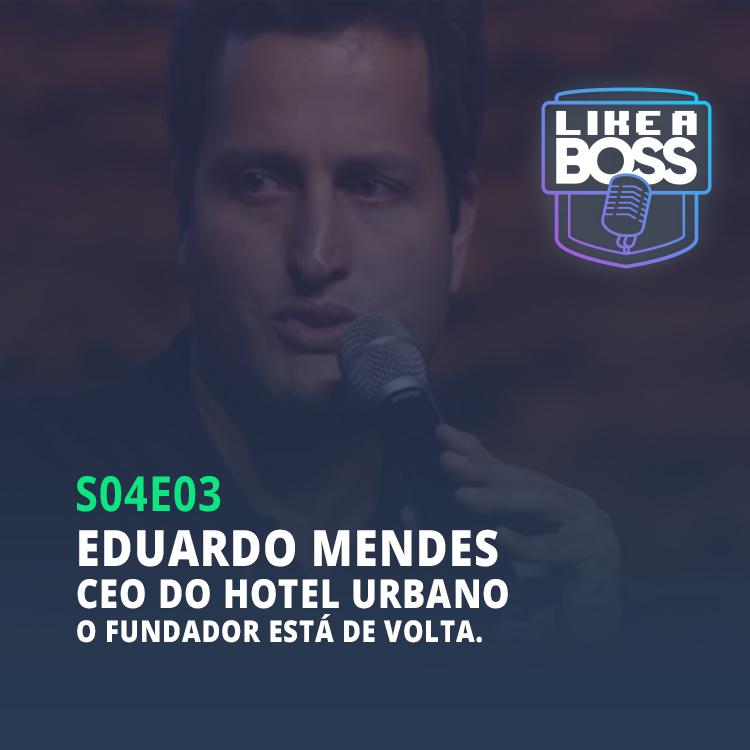 Eduardo Mendes, CEO do Hotel Urbano. O fundador está de volta.